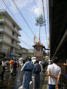 祇園祭雨の様子