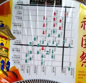 山鉾の地図(内輪に印字)